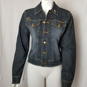 Jordache jean jacket with gold detailing